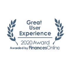 ezjobs great user experience 2020-award logo